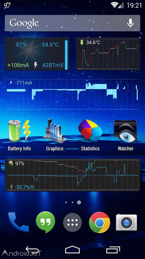 دانلود 4.3.9 Battery Monitor Widget Pro – برنامه مدیریت پیشرفته باتری اندروید