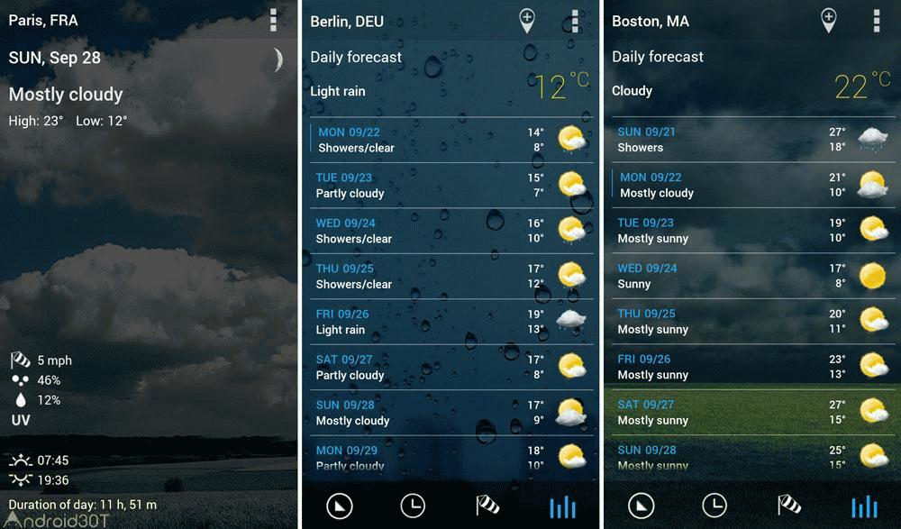 دانلود ۳D Flip Clock & World Weather 5.84.8 – برنامه هواشناسی اندروید