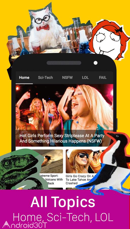 دانلود ۹GAG 6.82.00 – یافتن عکس های گیف و ویدئو در اندروید