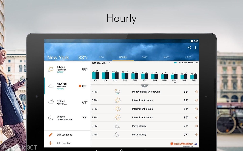 دانلود AccuWeather platinun 7.5.2 – برنامه پیش بینی وضعیت آب و هوا اندروید