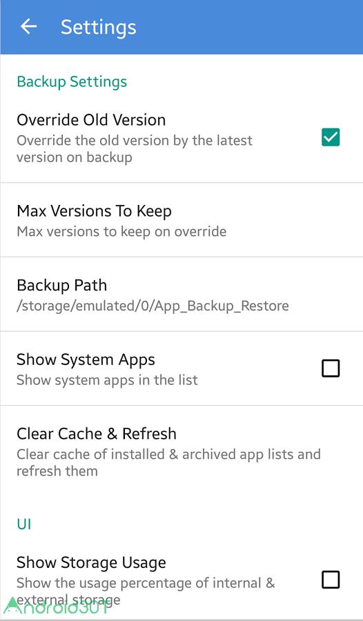 دانلود App Backup & Restore 6.8.3 – بکاپ گیری از برنامه ها در اندروید