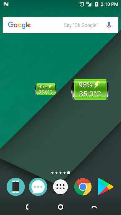 دانلود 2.0 Battery Widget – برنامه مدیریت باتری اندروید