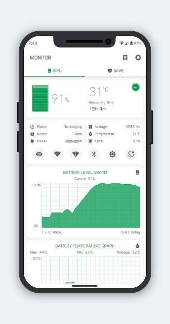 دانلود Battery Manager (Saver) 8.5.0 – برنامه مدیریت مصرف باتری اندروید
