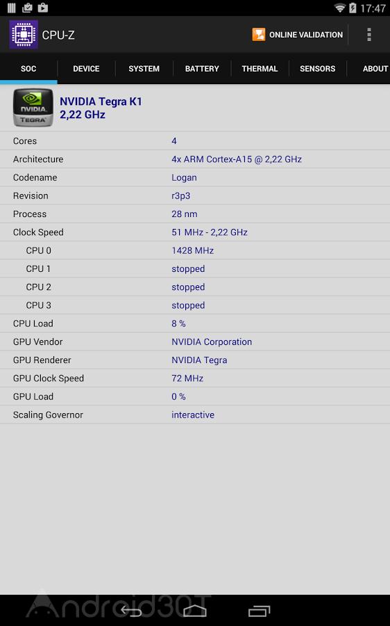 دانلود CPU-Z 1.37 – نرم افزار کم نظیر شناسایی سخت افزار و gpu اندروید