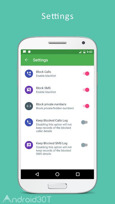 دانلود Blacklist – Call and SMS blocker Pro 11.0.0 – برنامه بلک لیست پیام و تماس اندروید