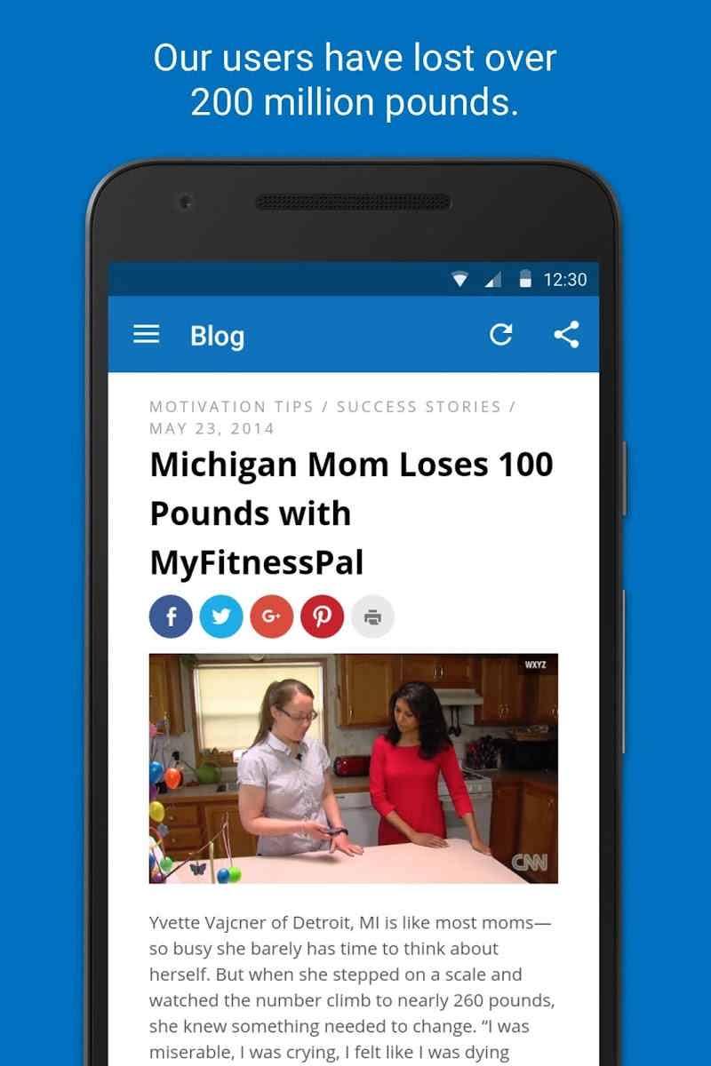 دانلود Calorie Counter – MyFitnessPal Premium v20.20.0 – برنامه کاهش و افزایش وزن اندروید