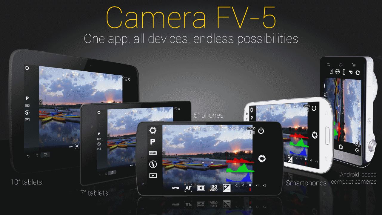 دانلود Camera FV-5 v5.2.5 – برنامه قدرتمند دوربین برای اندروید