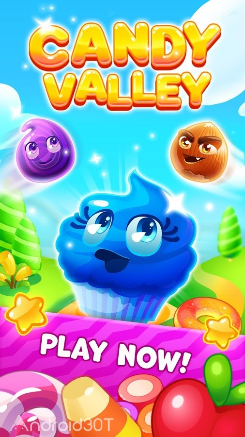 دانلود Candy Valley 1.0.0.25 – بازی پازلی دره آب نبات اندروید