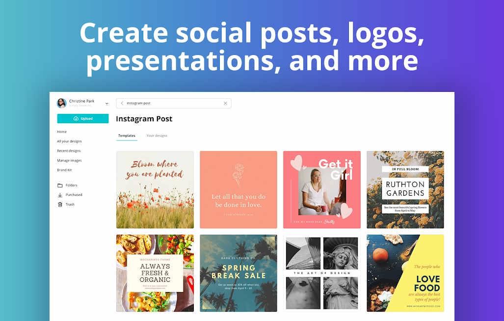 دانلود Canva: Graphic design & poster 2.61.0 – برنامه طراحی گرافیکی اندروید