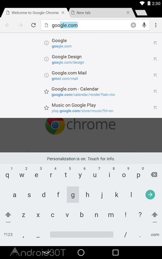 دانلود Google Chrome: Fast & Secure 88.0.4324.93 – گوگل کروم جدید اندروید + اندروید ۵ و ۷