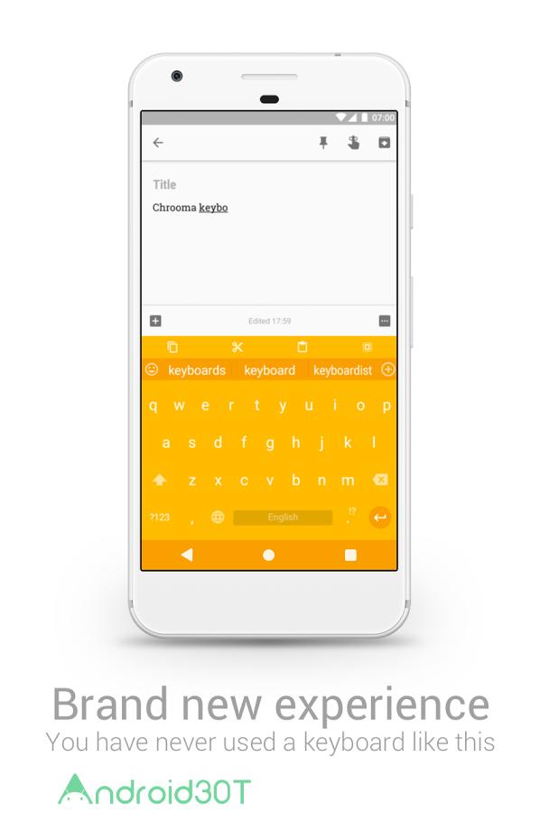 دانلود Chrooma GIF Keyboard PRO 7.4.2 – برنامه صفحه کلید سریع کروما اندروید