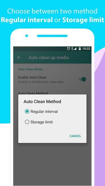 دانلود پاک کننده فایل های واتساپ 2.3.1 Cleaner for WhatsApp اندروید