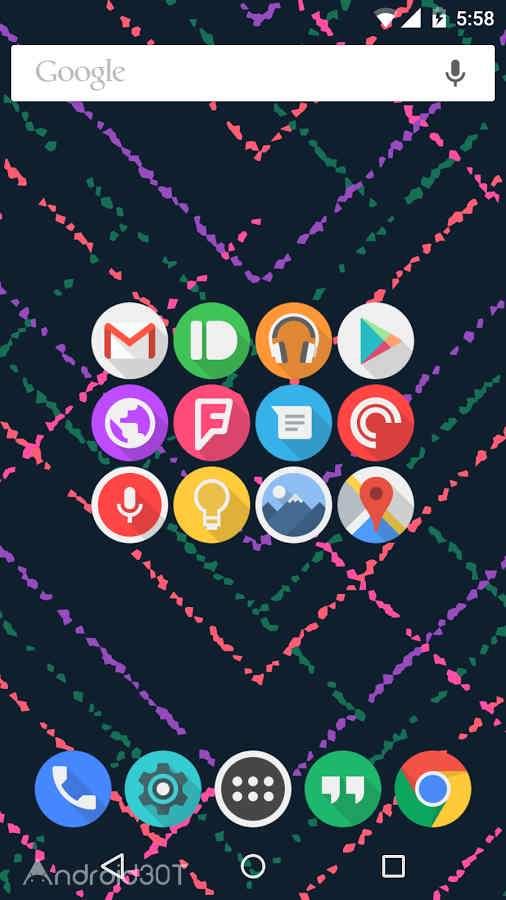 دانلود 6.3 Click UI – Icon Pack – مجموعه آیکون های گرد اندروید