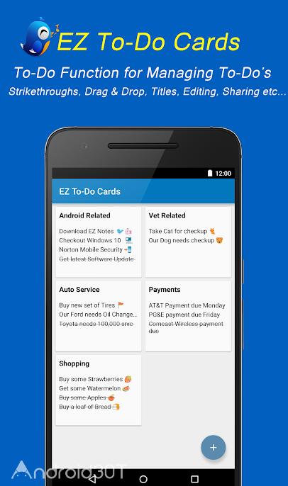 دانلود EZ Notes 2.92 – برنامه یادداشت برداری کاربردی برای اندروید