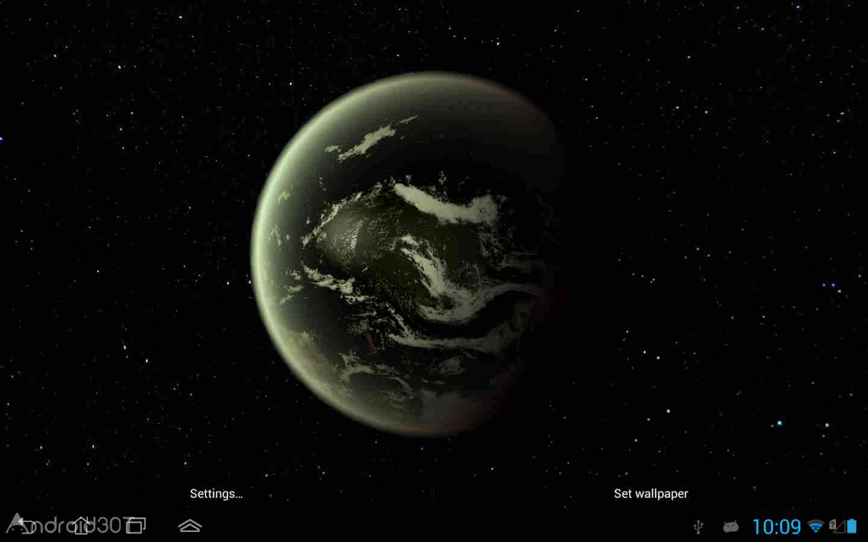 دانلود Earth HD Deluxe Edition 3.5.0 – لایو والپیپر کره زمین اندروید