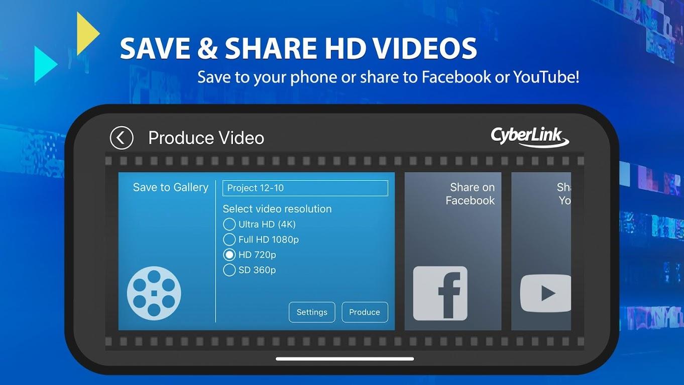 دانلود PowerDirector Video Editor App 7.4.0 – برنامه ویرایشگر ویدئو اندروید