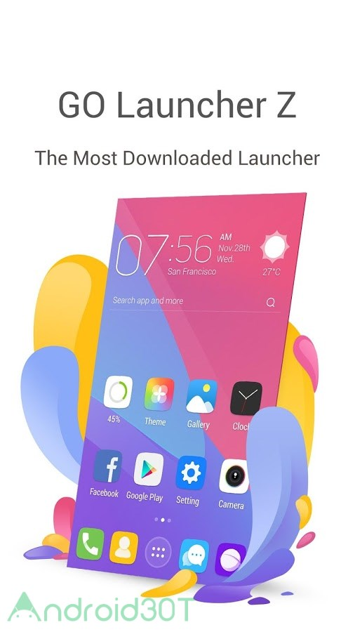 دانلود GO Launcher Z 3.30 – لانچر محبوب گو لانچر اندروید