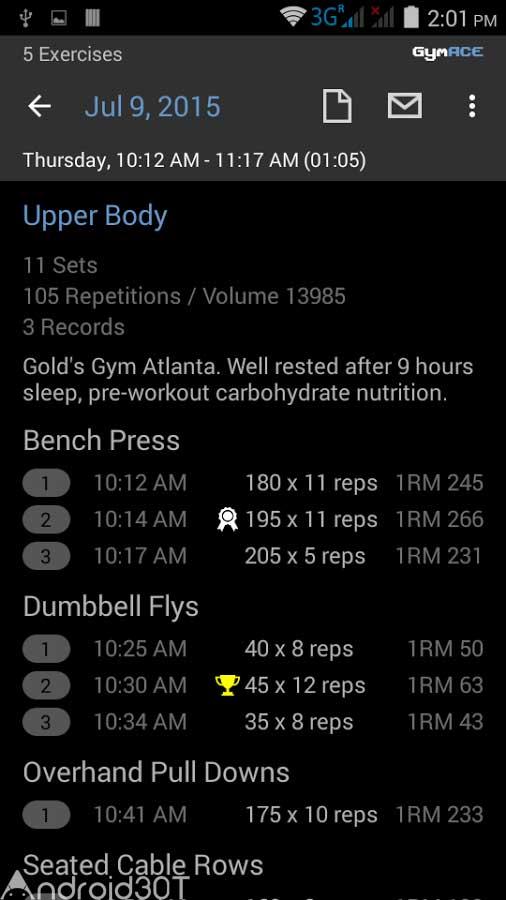 دانلود GymACE Pro: Workout & Body Log 1.3.4 – برنامه آموزش تمرینات ورزشی اندروید