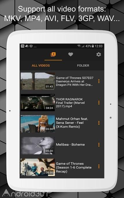 دانلود 1.8.1 HD Video Player All Format – Streaming – برنامه ویدئو پلیر اچ دی اندروید