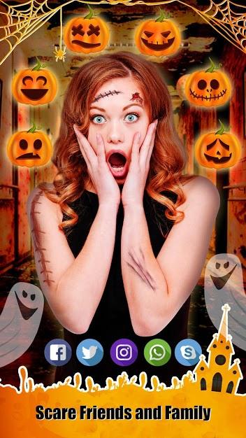 دانلود 1.1 Halloween Photo Editor – Scary Makeup – برنامه ماسک های هالوین برای اندروید