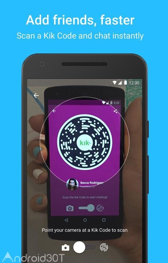 دانلود Kik Messenger 15.21.0.22201 – دانلود کیک مسنجر جدید اندروید