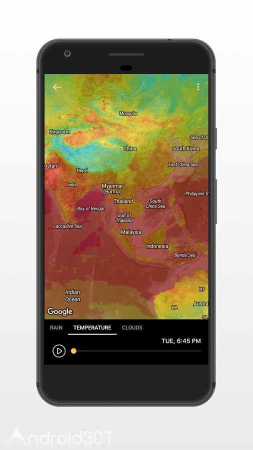 دانلود Today Weather Forecast 1.5.0-10.060620 – برنامه پیش بینی آب و هوا اندروید