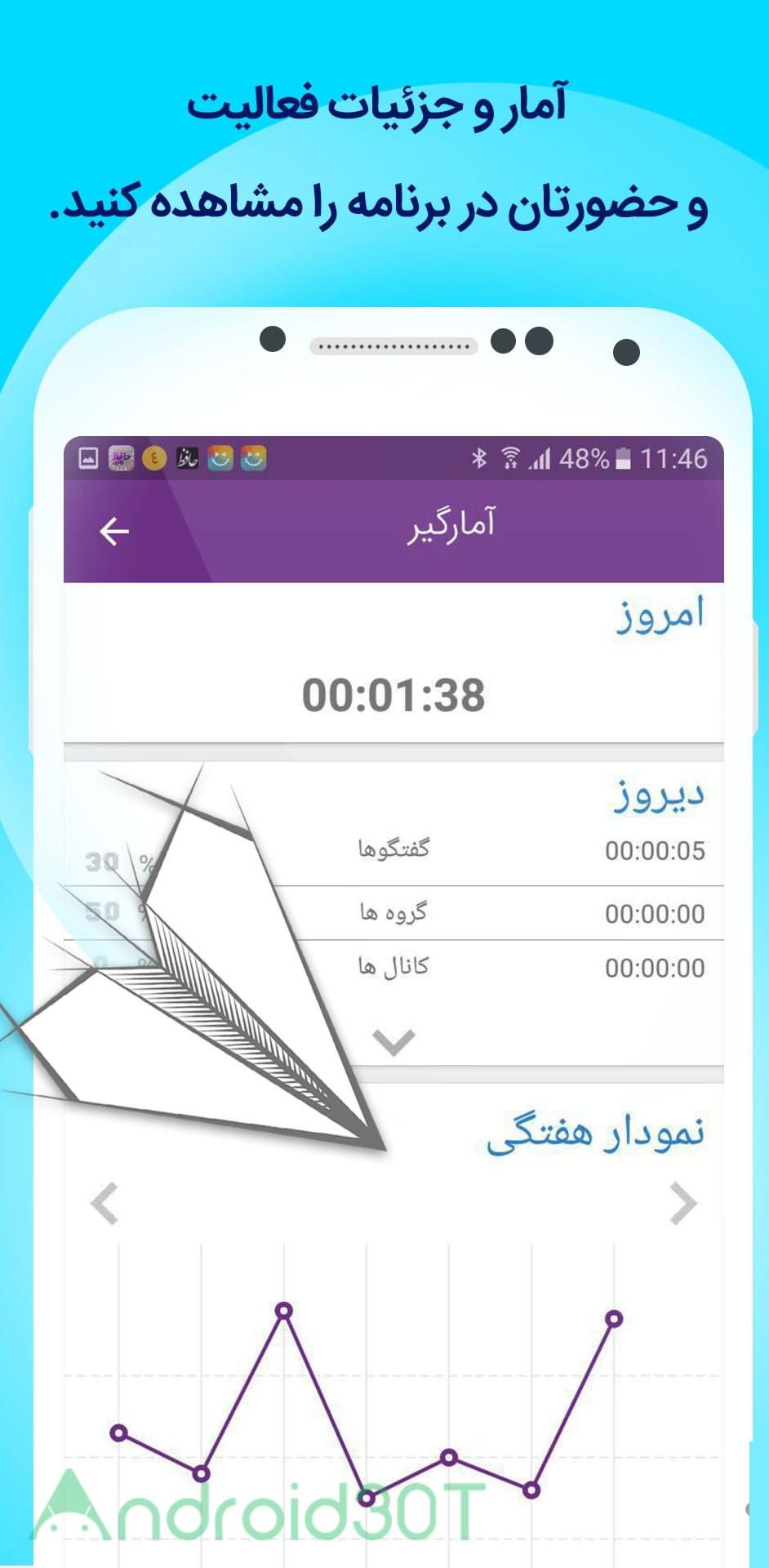 دانلود گرامی اندروید – تلگرام فارسی با امکانات ویژه