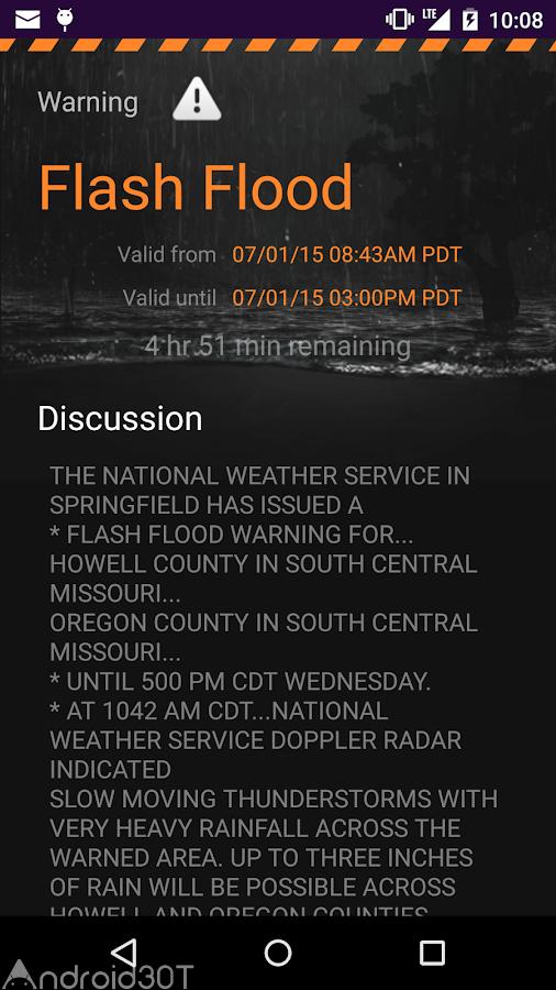دانلود MyRadar Weather Radar Pro 6.8.7 – رادار هواشناسی اندروید