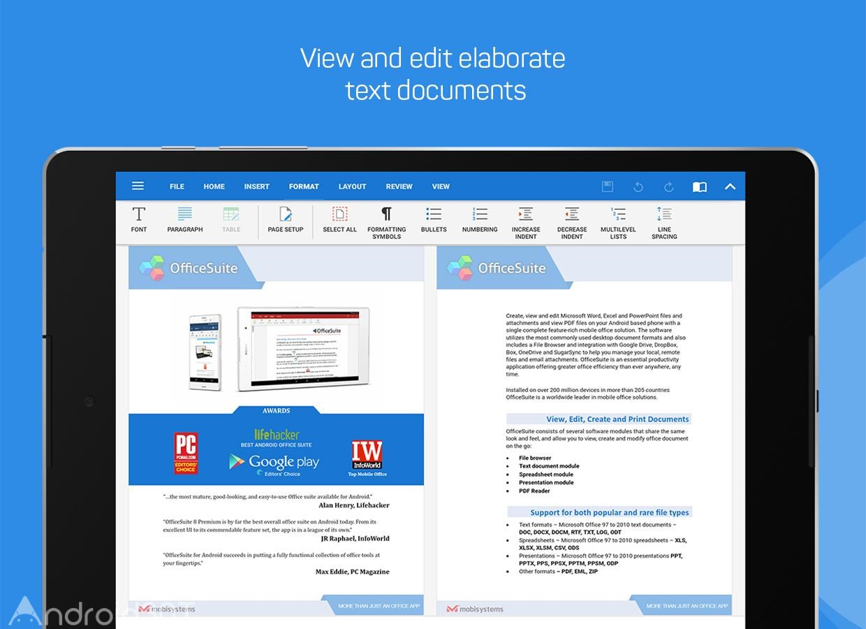 دانلود OfficeSuite 11.5.36184 – نرم افزار قدرتمند آفیس اندروید
