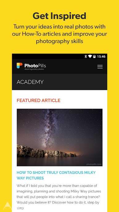 دانلود PhotoPills 1.7.1 – برنامه عکسبرداری با طبیعت برای اندروید