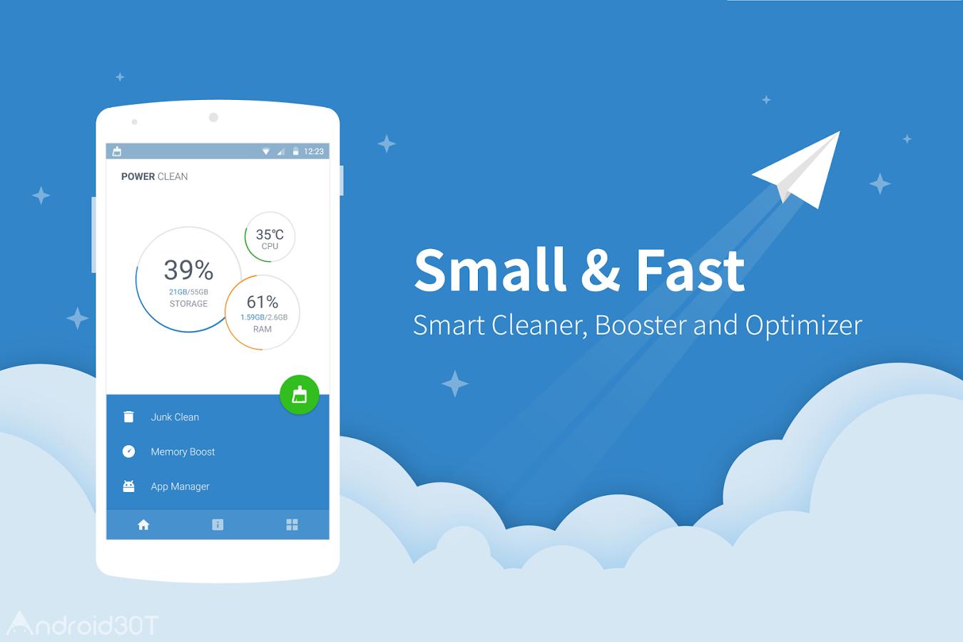 دانلود Power Clean – Optimize Cleaner 2.9.9.64 – برنامه بهینه سازی اندروید