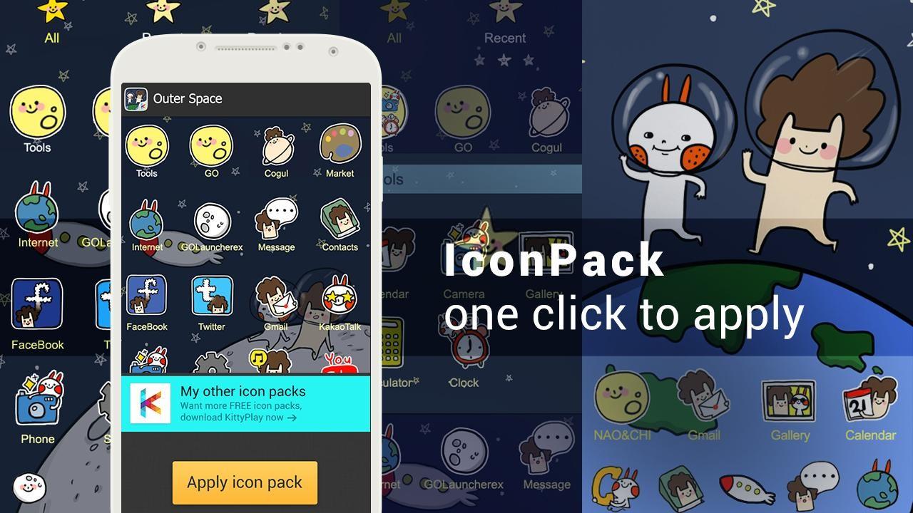 دانلود 1.0 Icon pack – Outer Space – مجموعه آیکون فانتزی اندروید