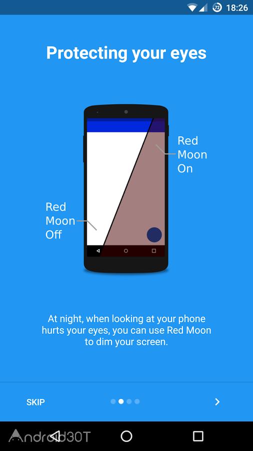 دانلود Red Moon – Screen Filter 3.3.2 – فیلتر هوشمند نور آبی صفحه اندروید