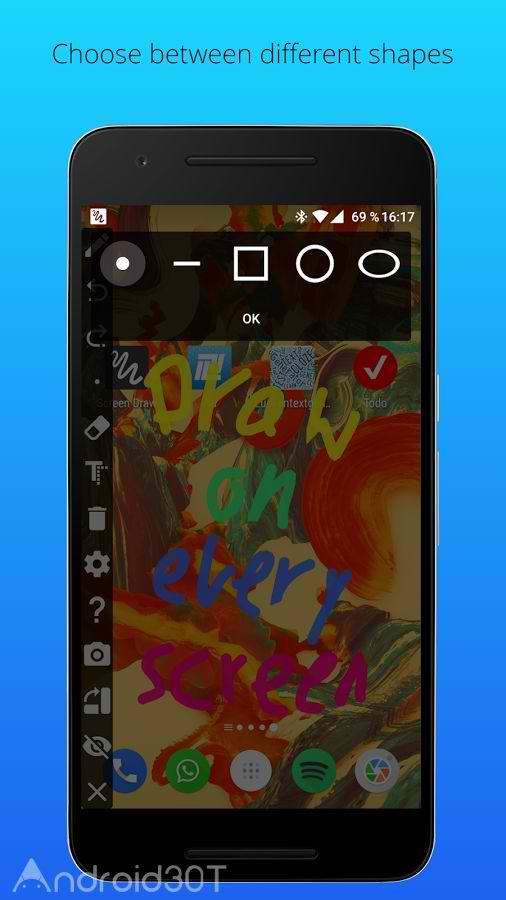 دانلود Screen Draw Screenshot Pro 1.0 – برنامه کشیدن نقاشی در گوشی اندروید
