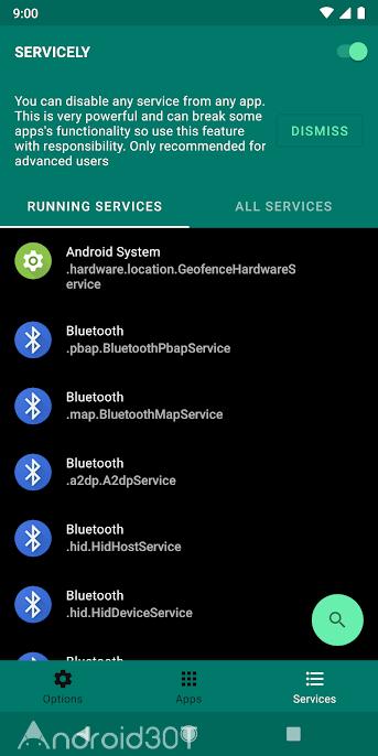 دانلود Servicely 7.0.1 – برنامه مدیریت اپلیکیشن های در حال اجرا اندروید