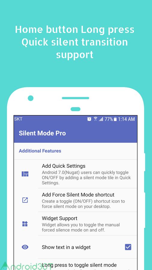 دانلود Silent Mode Pro 1.5.0b – برنامه سکوت سریع اندروید