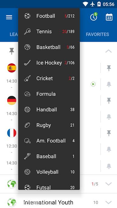 دانلود ۵٫۸۲٫۵ SofaScore Live Score – برنامه پیگیری مسابقات فوتبال اندروید