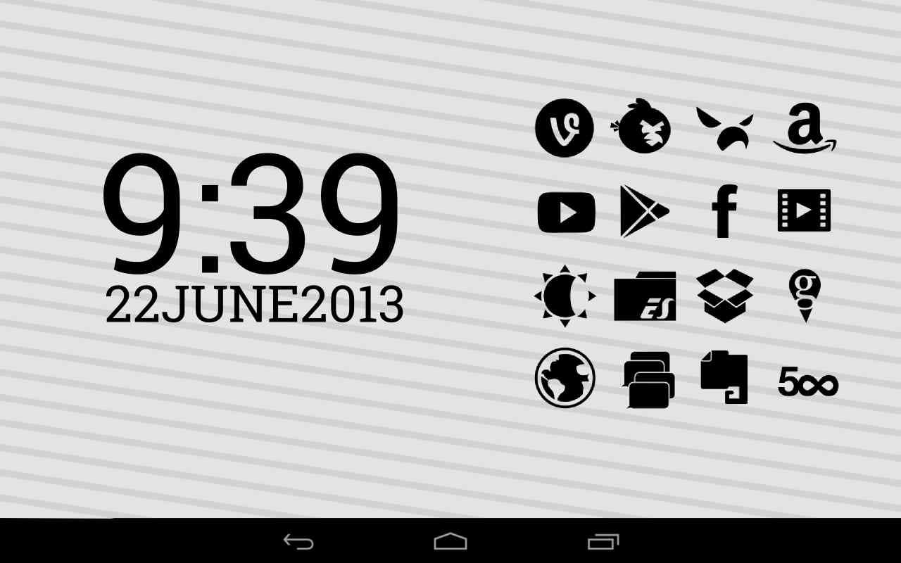 دانلود 2.4 Stamped Black Icons – مجموعه آیکون باکیفیت اندروید