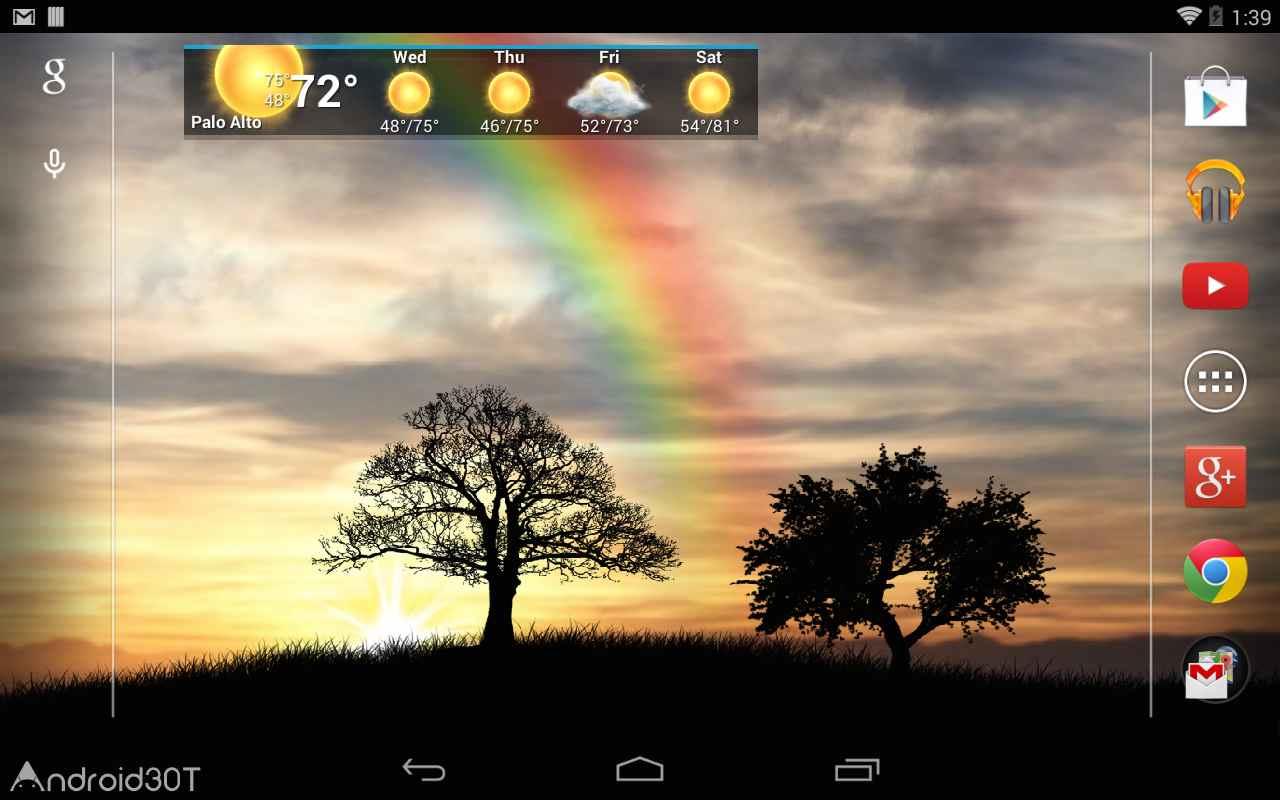 دانلود Sun Rise Live Wallpaper 4.7.4 – لایو والپیپر طلوع خورشید برای اندروید