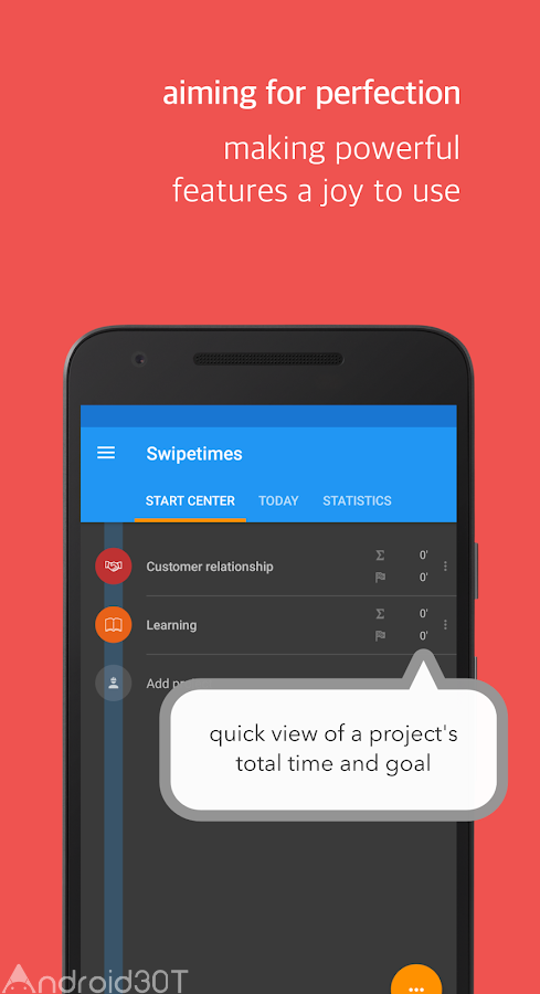 دانلود Swipetimes Time Tracker Full 10.5.9 – برنامه کنترل زمان اندروید