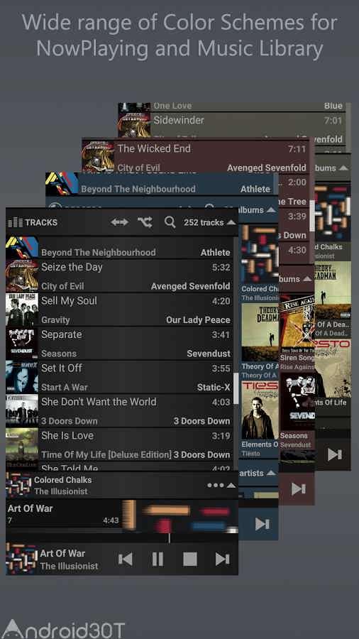دانلود  1.4.4 T Music Player – برنامه پخش کننده فایل های صوتی فوق العاده اندروید