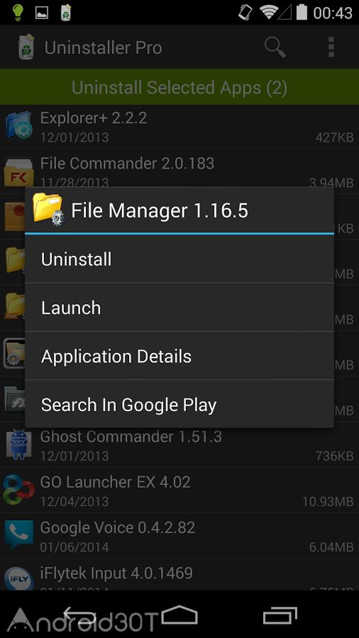 دانلود Uninstaller Pro 1.6.1 – برنامه حذف سریع و آسان برنامه ها اندروید