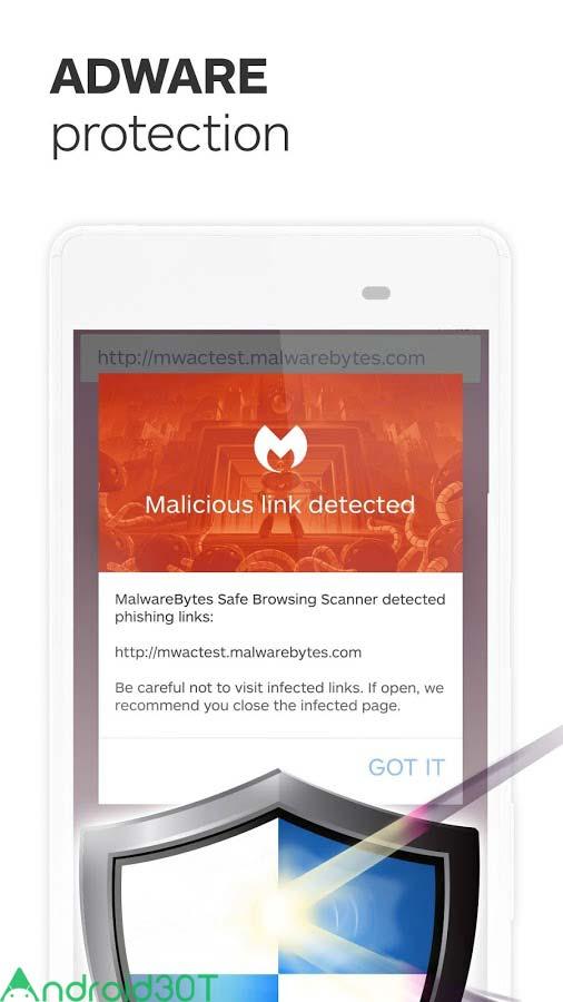 دانلود Malwarebytes Security: Virus Cleaner, Anti-Malware 3.2.0.4 – برنامه آنتی تروجان اندروید