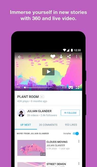 دانلود Vimeo 3.33.0 – برنامه مشاهده ویدئوهای آنلاین اندروید