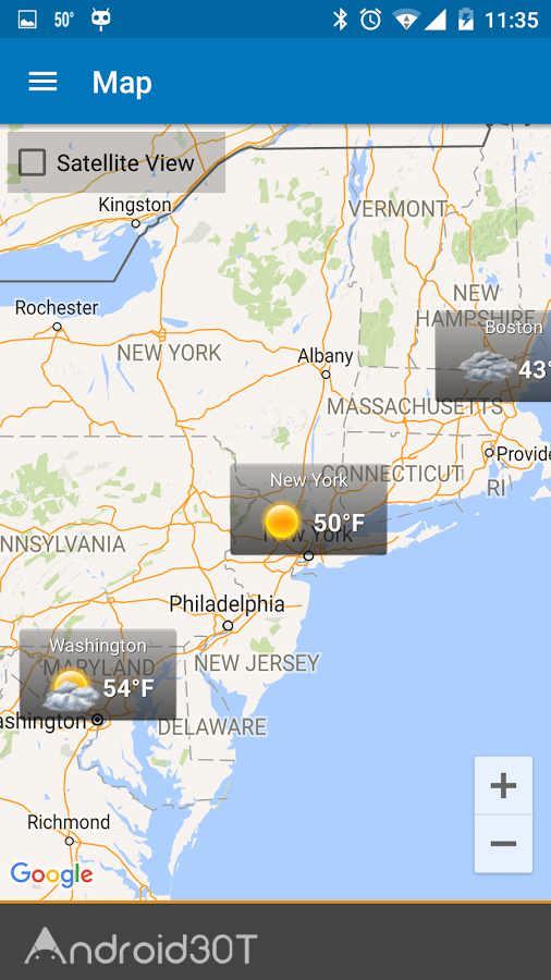 دانلود Weather & Clock Widget Ad Free 6.1.3.4 – برنامه هواشناسی اندروید