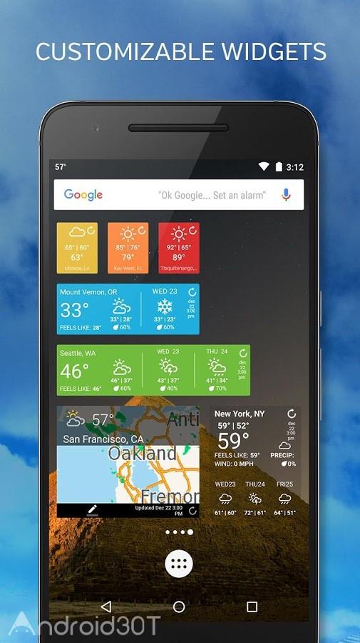 دانلود Weather Underground: Forecasts Premium 6.8.1 – برنامه دقیق هواشناسی اندروید