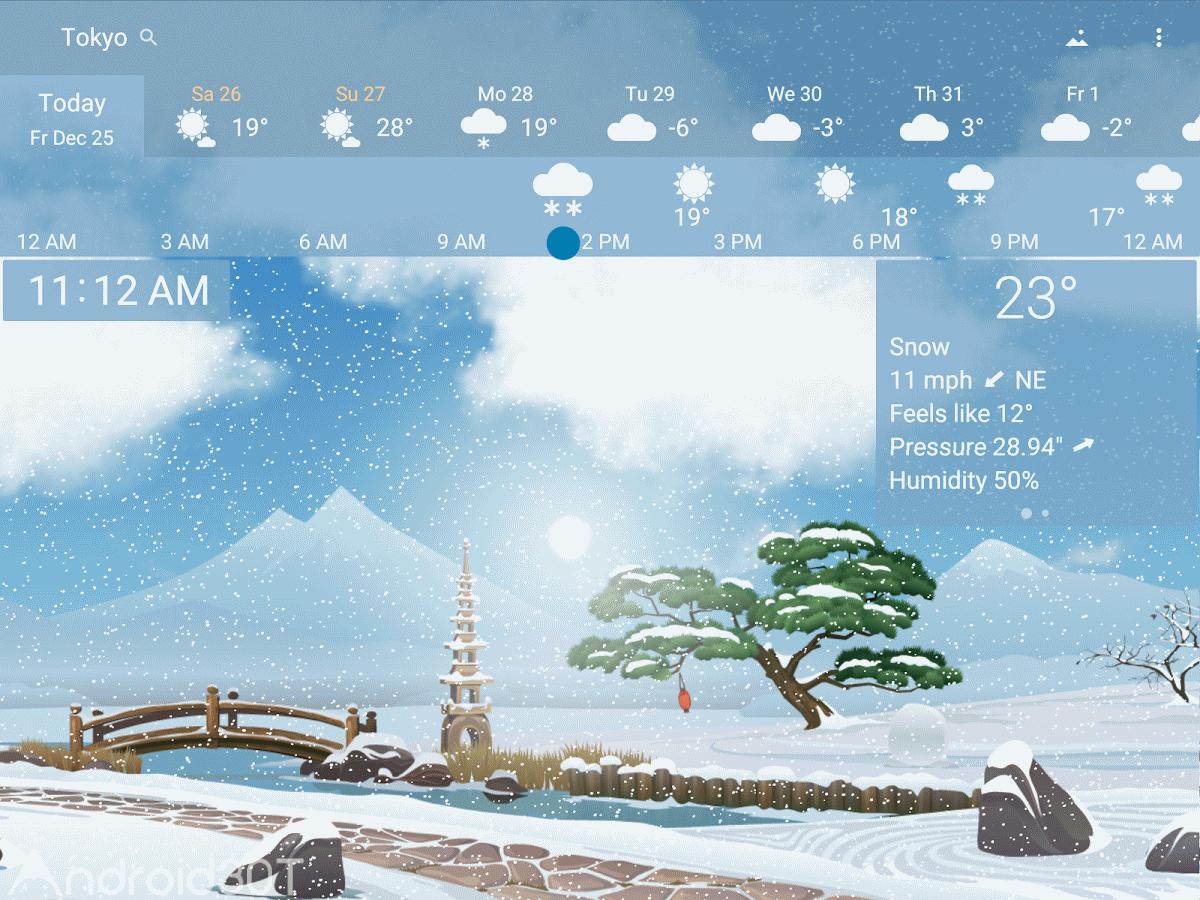 دانلود YoWindow Weather 2.24.7 – برنامه هواشناسی زیبای اندروید