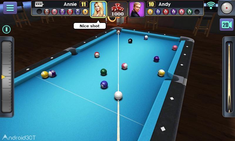 دانلود 3D Pool Ball 2.2.3.2 – بازی بیلیارد سه بعدی برای اندروید
