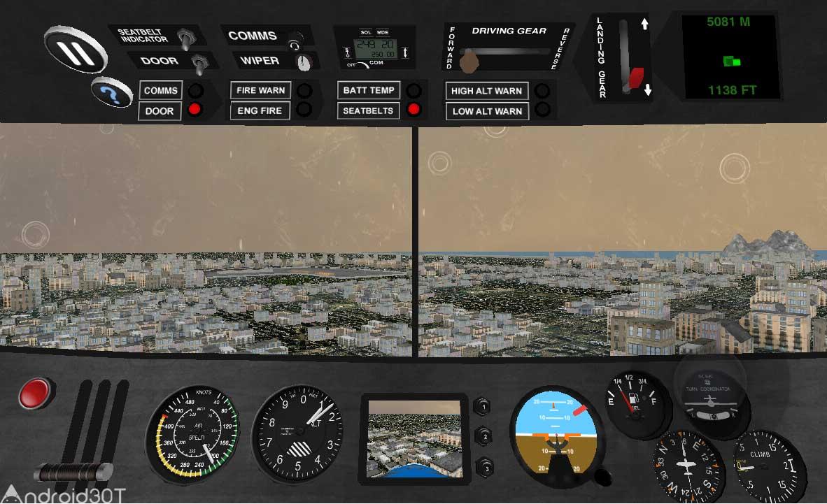 دانلود Airplane Pilot Sim 1.22 – بازی شبیه سازی خلبان هواپیما اندروید