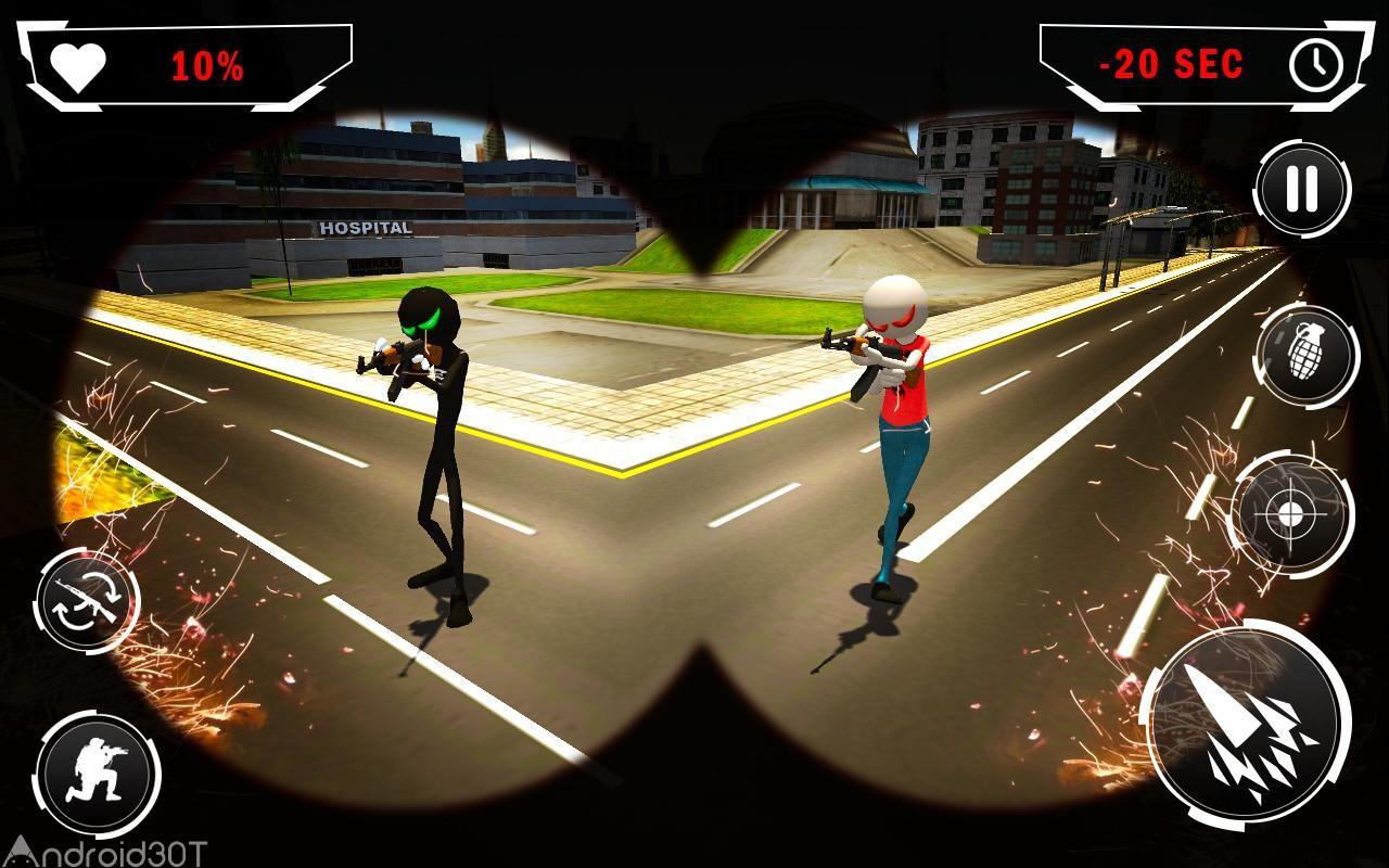دانلود American Monster vs Stickman Sniper Modern Combat 1.1.2 – بازی اکشن اندروید